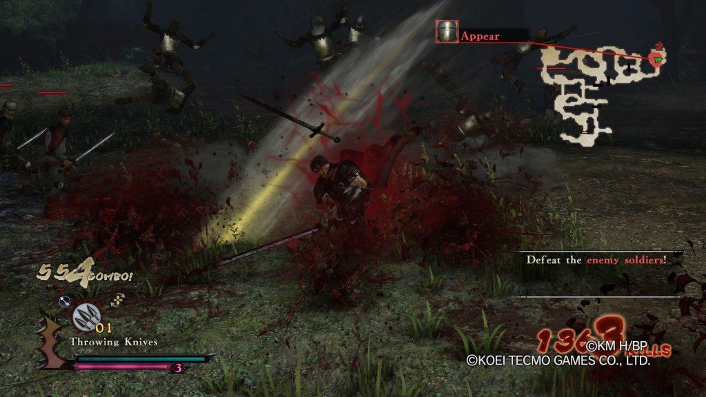 Guts destruyendo enemigos